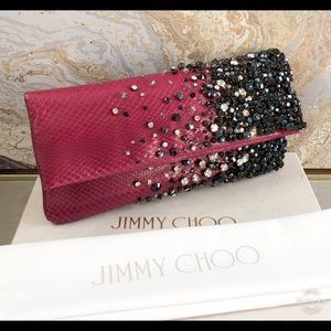 GORGEOUS! Jimmy Choo Python Crystal Clutch